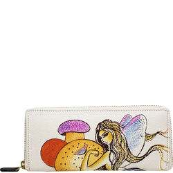 The Mad Hatter Women's Wallet, cow deer,  white