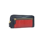 EE LIBRA W2 RF WOMENS WALLET SNAKE,  red