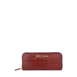 Carly W3 (Rfid) Women's Wallet, Croco,  red