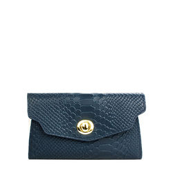 Phoebe W2 Women's Wallet, snake,  blue