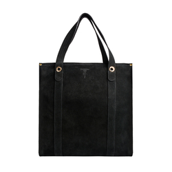 Lionel Shopper Tote, Cowsuede,  black