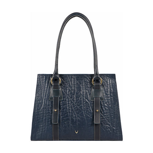 HIDESIGN X KALKI SAMURAI 02 WOMEN S SHOULDER BAG ELEPHANT,  midnight blue