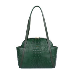 New York 01 Sb Women's Handbag, Baby Croco Melbourne Ranch,  emerald green
