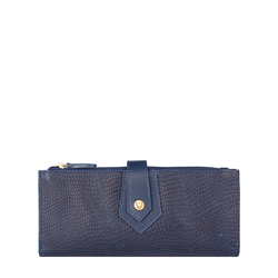 Hong Kong W1 Sb Women's wallet, Lizard Melbourne Ranch,  midnight blue