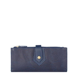 Hong Kong W1 Sb (Rf) Women's Wallet, Lizard Melbourne Ranch,  midnight blue