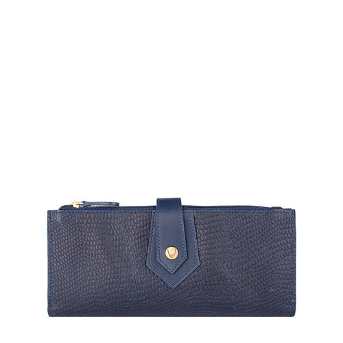 Hong Kong W1 Sb (Rf) Women s Wallet, Lizard Melbourne Ranch,  midnight blue