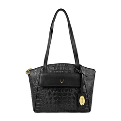 ELINOR 01 SB WOMENS HANDBAG BABY CROCO,  black