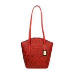 Bonn Women s Handbag, Embossed Flower,  red