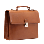 BOND 02 BRIEFCASE SADDLE,  tan