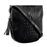 Rive Gauche 03 Women s Handbag Baby Croco,  black