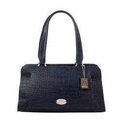 Orsay 03 Women's Handbag,  midnight blue, croco