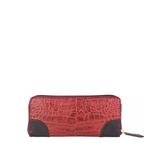 Saturn W2 Sb (Rfid) Women s Wallet, Croco Melbourne Ranch,  red