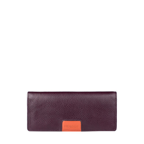 Meghan W2 (Rfid) Women s Wallet, Cow Deer Melbourne Ranch,  aubergine