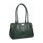 Shanghai 02 Sb Women s Handbag, Snake Melbourne Ranch,  emerald green