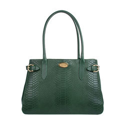Shanghai 01 Sb Women's Handbag, Snake Melbourne Ranch,  emerald green