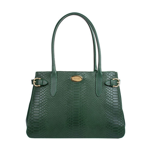 Shanghai 01 Sb Women s Handbag, Snake Melbourne Ranch,  emerald green