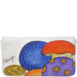 The Cheshire Cat women s clutch,  white, cow deer