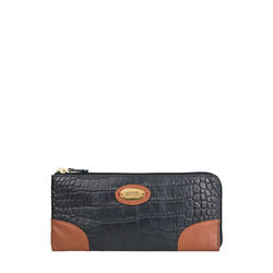 Saturn W3 Sb (Rfid) Women's Wallet, Croco Melbourne Ranch,  black