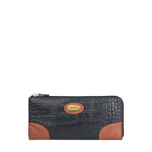 Saturn W3 Sb (Rfid) Women s Wallet, Croco Melbourne Ranch,  black