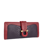 EE FRIEDA W1(RFID) WOMEN S WALLETS SNAKE,  aubergine
