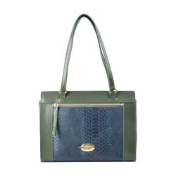 Libra 02 Sb Women's Handbag, Melbourne Ranch Snake,  emerald