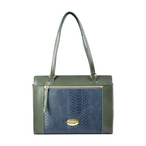 Libra 02 Sb Women s Handbag, Melbourne Ranch Snake,  emerald