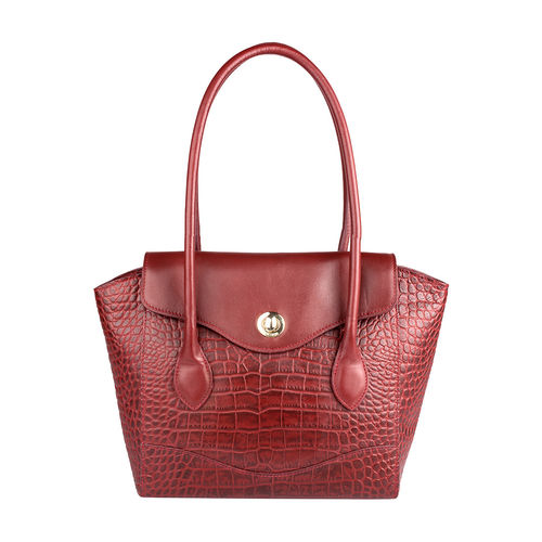Sb Gisele 01 Women s Handbag, Croco Melbourne Ranch,  red