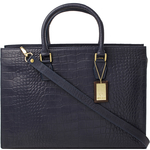 Kester Women s Handbag, Croco,  midnight blue