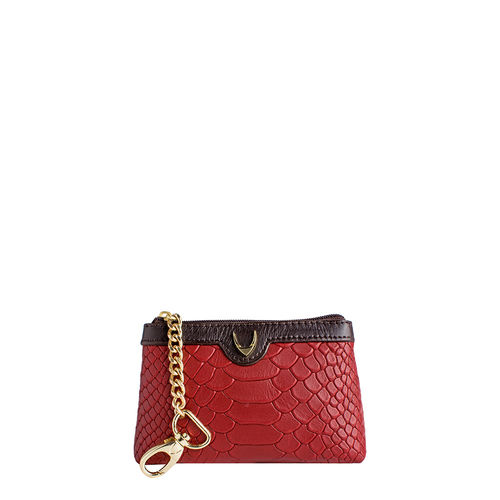 Daphne 01Coin pouch, snake,  red
