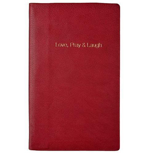 Love Pray Laugh Notebook,  fuchsia