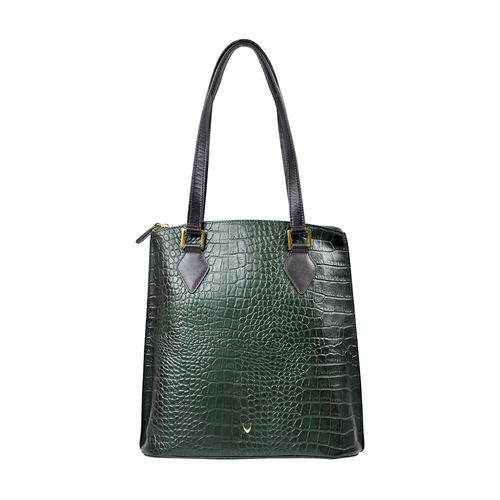 Scorpio 01 Sb Women s Handbag, Croco Melbourne Ranch,  green