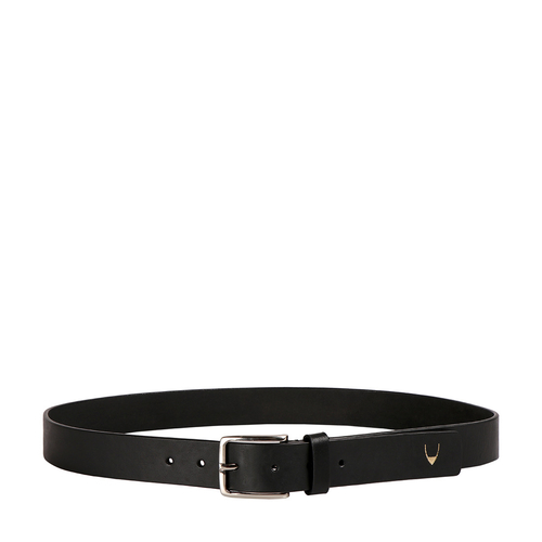 Ee Leanardo Men s Belt Glazed Plain, 40,  black
