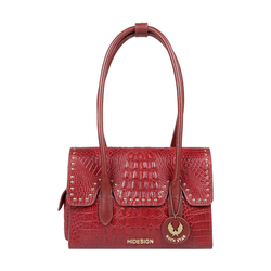 PUNK 02 WOMENS HANDBAG BABY CROCO,  marsala