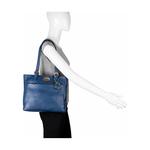 Lucia 02 Women s Handbag, Cow Deer,  blue