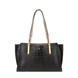 SPEAKEASY 02 WOMEN'S HANDBAG BABY CROCO,  black