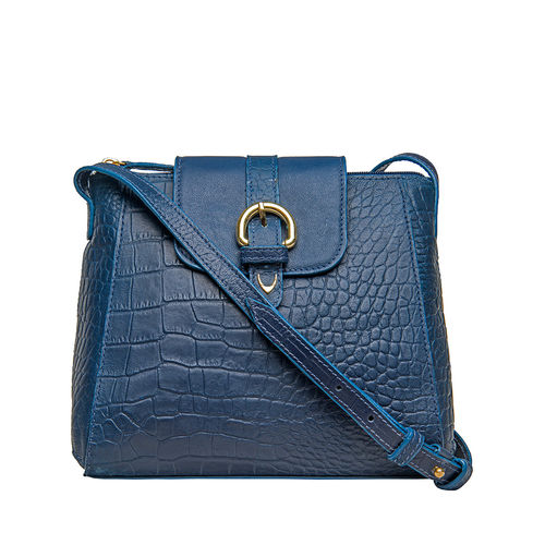 Sb Lyra Women s Handbag, Croco Ranchero,  blue