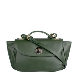 Vitello 01 Women's Handbag, Ranch Mel Ranch,  emerald green
