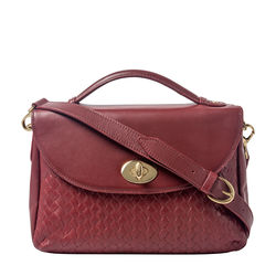 Cavendish 04 Women's Handbag, Woven Melbourne Ranch,  marsala