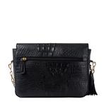 Rive Gauche 01 Women s Handbag, Baby Croco,  black