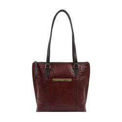 Maple 02 Sb Women's Handbag Ostrich Embossed Melbourne Ranch,  brown