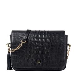 Rive Gauche 01 Women's Handbag, Baby Croco,  black