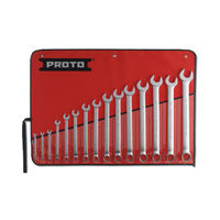Proto USA 15 Piece Satin Metric Combination ASD Wrench Set 12 Point 7mm-32mm