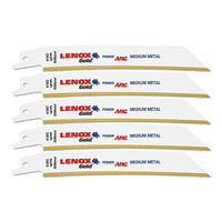 "Lenox USA Reciprocating/Sabre Saw 6"" x18TPI (5Pc Pack)"