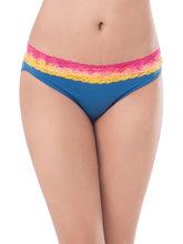 Prettysecrets Cotton Lace Bikini (PS0916OMWBBKN04), blue, s