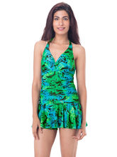 PrettySecrets Ruched Skirted Swimsuit (PSW16SWM19B), multicolour, xs