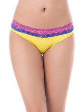 Prettysecrets Cotton Lace Bikini (PS0916OMWBBKN05), yellow, s