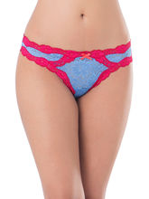 Prettysecrets Lace Thong (PS0916LACYTHG02), blue and red, m