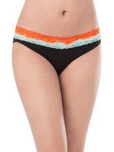 Prettysecrets Cotton Lace Bikini (PS0916OMWBBKN01), black, s