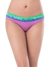 Prettysecrets Cotton Lace Bikini (PS0916OMWBBKN03), purple, m