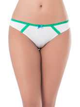 Prettysecrets Cotton Lace Bikini (PS0916BKLCBKN05), white and green, l